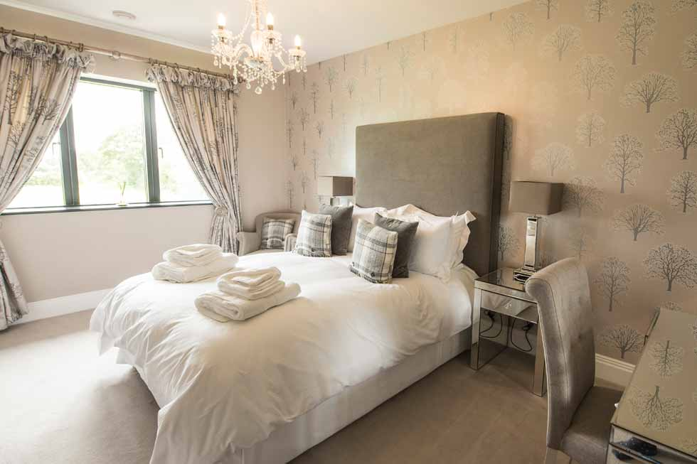 Photo of one of the stunning bedrooms at Holden Fields