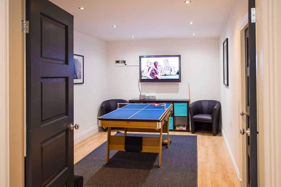 Photo of the games room at Holden Fields in Chester