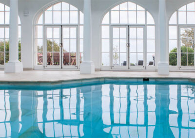 Photo of the indoor pool at Pennsylvania Castle Estate