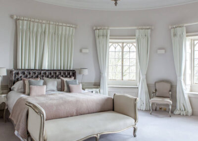Photo of the master bedroom at Pennsylvania Castle Estate
