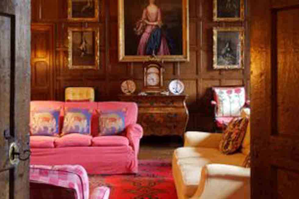 Relax in one of the many lounge rooms at Pentrehobyn Hall