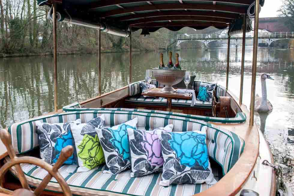 Take your own boat down the Thames to a Michelin Starred restaurant