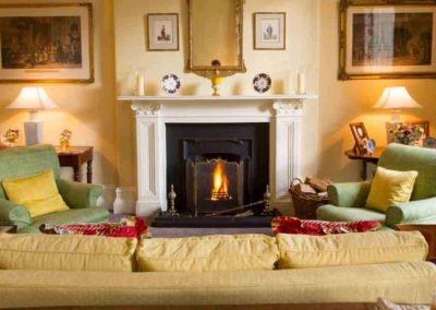 Photo of a fireplace at Llyn House