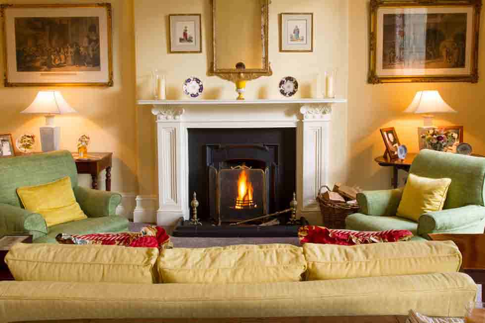 Relax in front of the fire at Silverholme