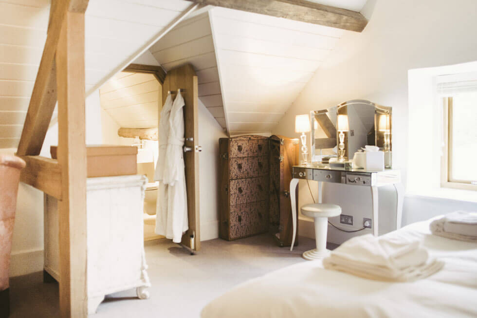 Photo of one of the bedrooms at Temple Guiting Barn