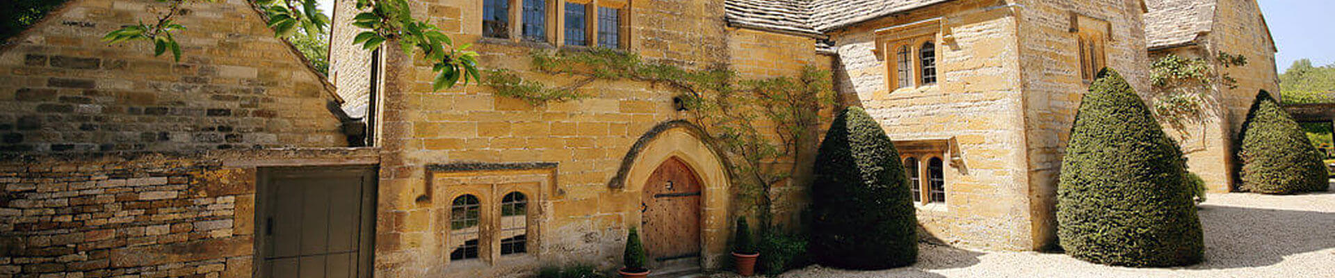 Photo of the stunning entrance to the Manor at Temple Guiting Estates