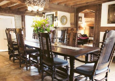 Photo of the dining room at Temple Guiting Estate