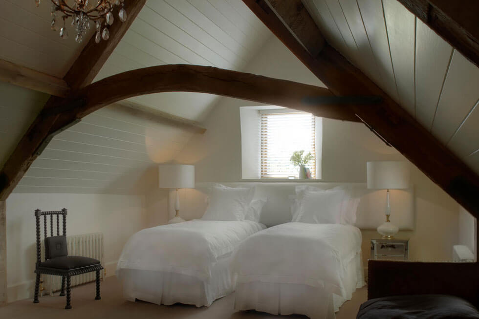 Photo of one of the large bedrooms at Arsian Estate