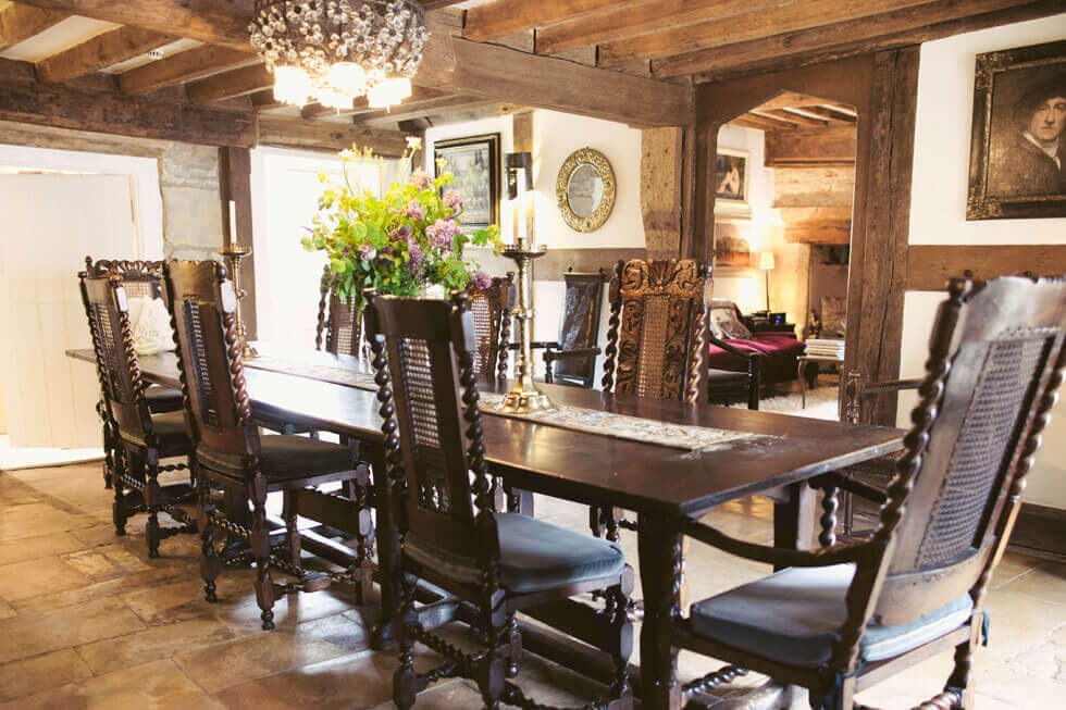 Photo of the Temple Guiting Manor dining room