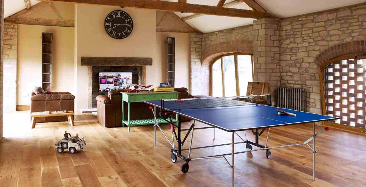 The Barns' large games room