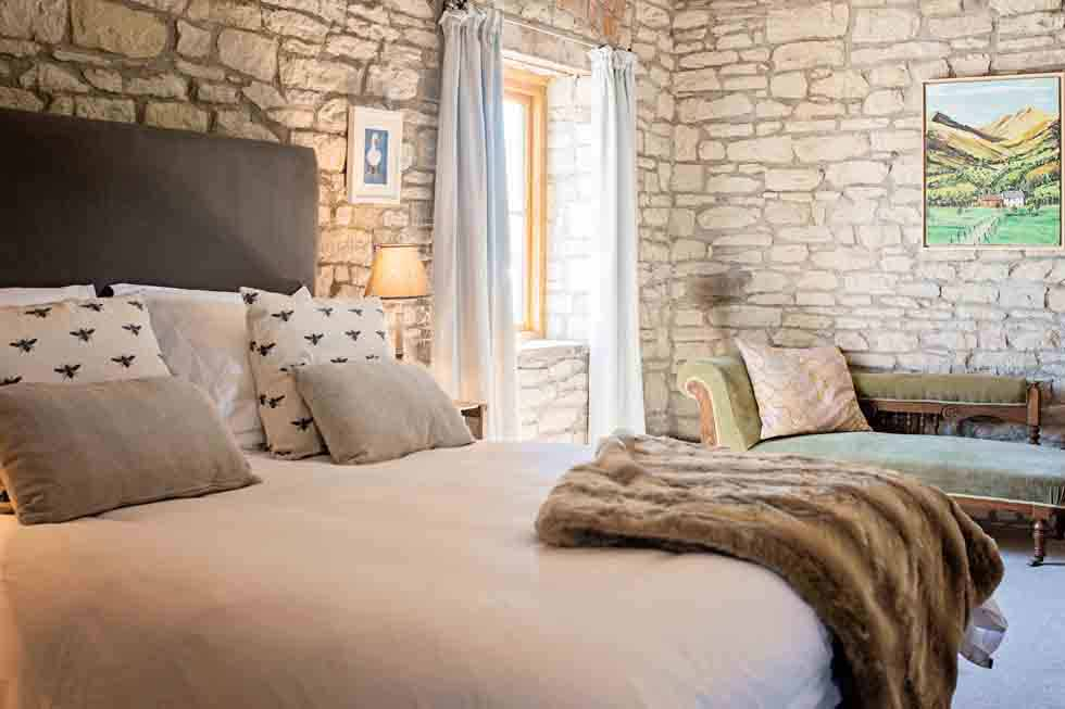 Beautiful bedrooms at The Barns
