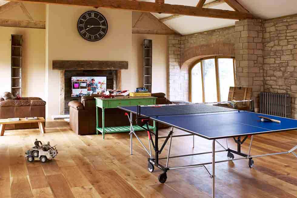 The Barns' games room
