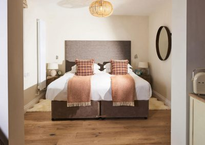 Photo of one of the small bedroom suites at The Fish Hotel
