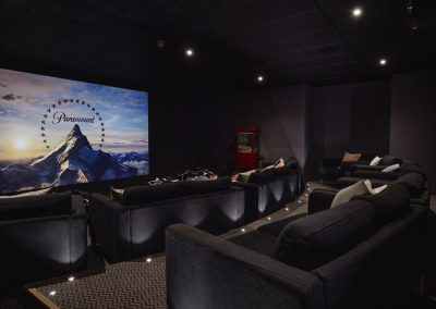 Photo of the screening room cinema at The Fish Hotel
