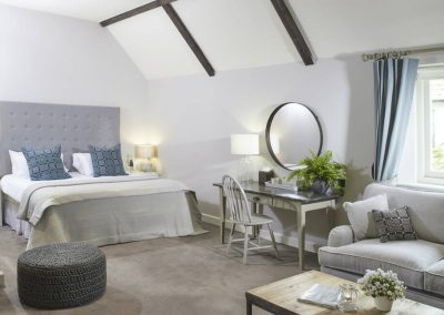 Photo of one of the big bedroom suites at The Fish Hotel