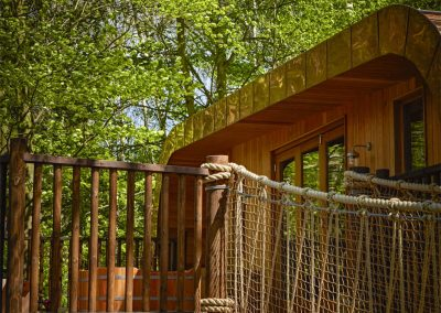 Photo of the entrance to the treehouses
