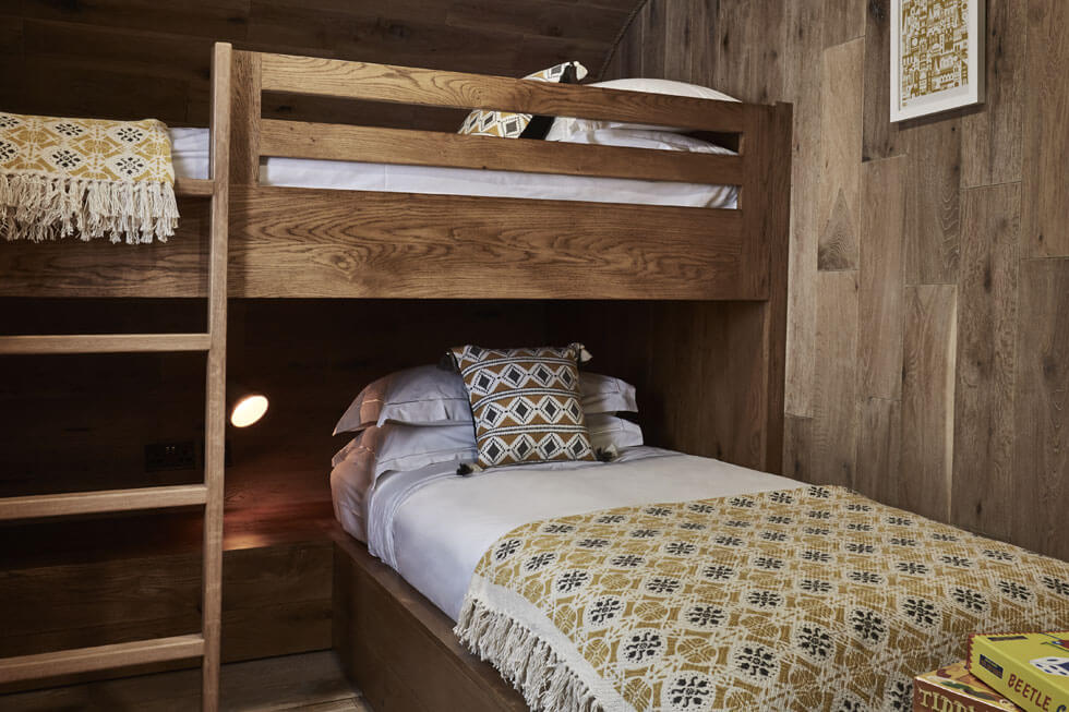 Photo of the second bedroom in the Treehouse at The Fish Hotel