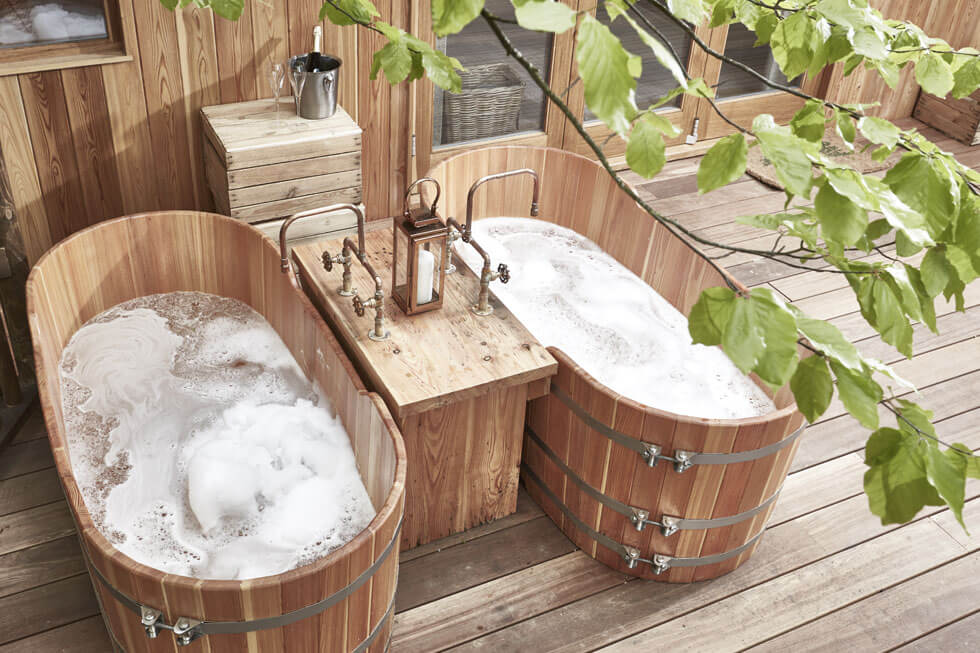 Photo of the bath in a Treehouse at The Fish Hotel