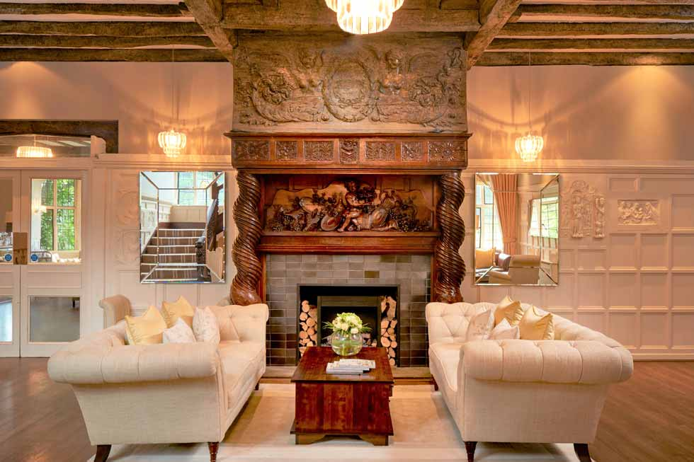 Photo of the stunning fireplaces at The Manor Elstree