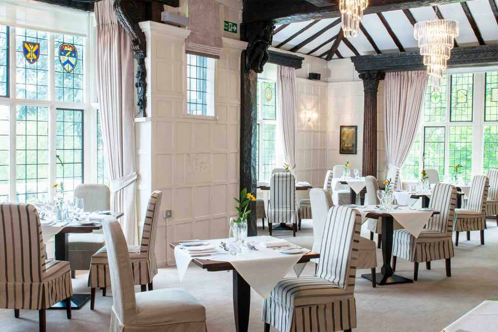 Photo of the main dining room at The Manor Elstree