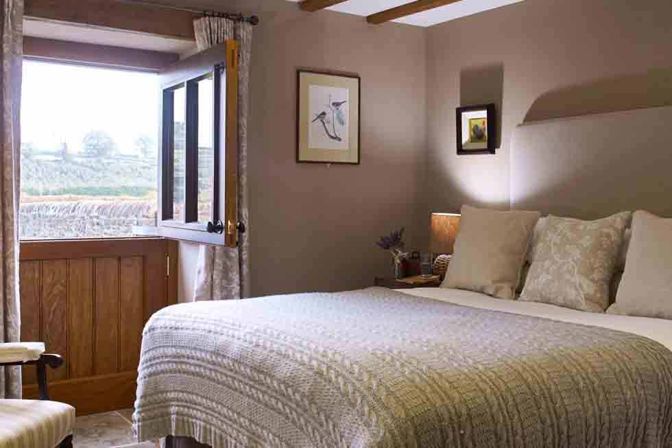 The beautiful bedroom at The Old Byre