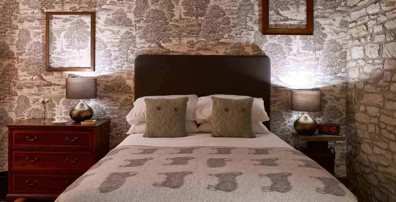 One of the luxurious bedrooms at The Old Mill & Hayloft