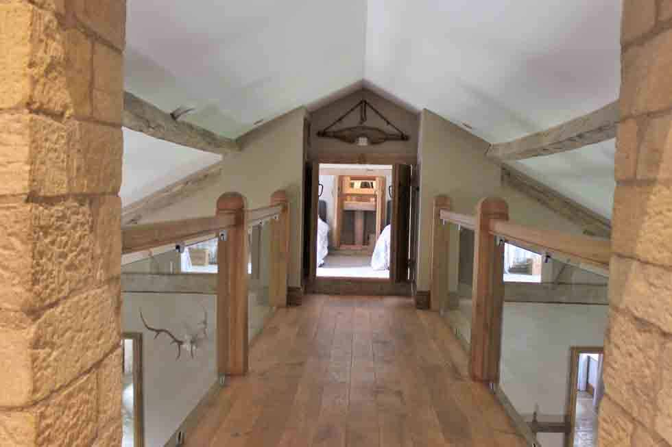 The upstairs indoor bridge to one of The Old Mill & Haylofts bedrooms
