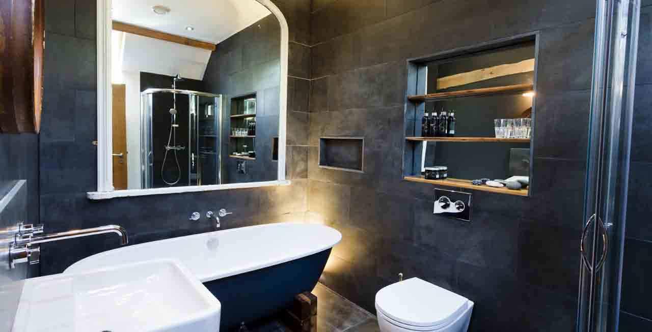 Luxury bathrooms at Tregulland Barn