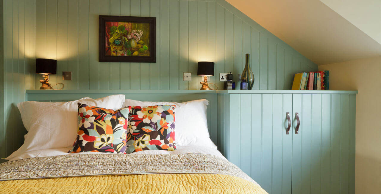 Photo of one of the bedrooms at Tregulland Cottage
