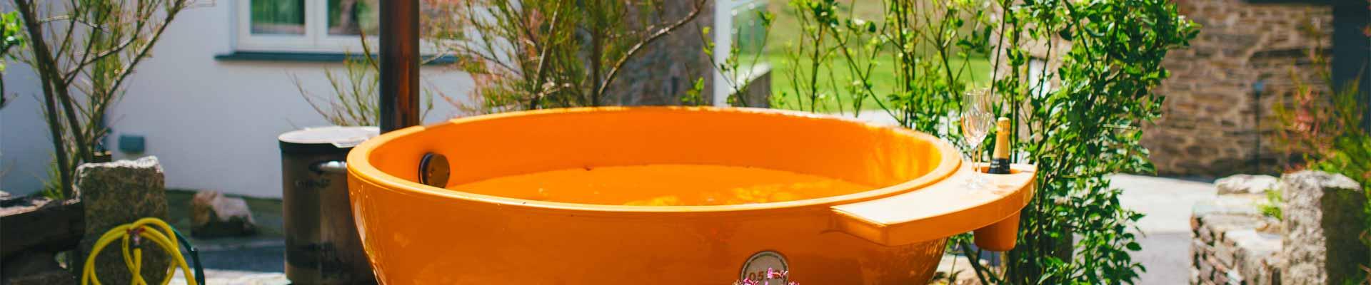 Photo of Tregulland Retreats hot tub