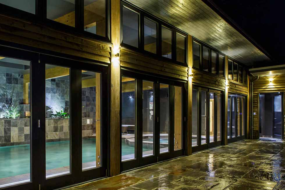 Tregulland Retreats stunning large indoor swimming pool