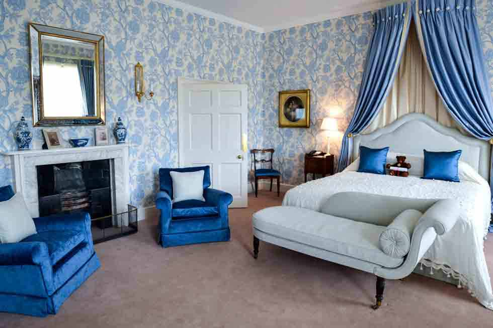 One of luxurious bedroom suites at Weston Park