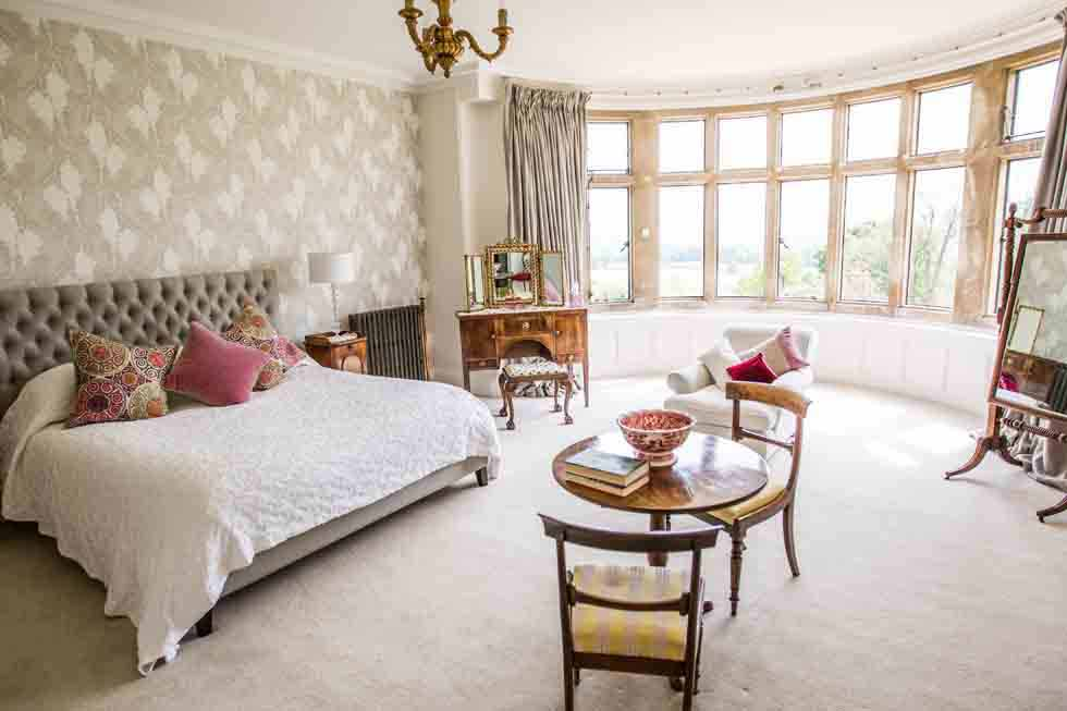 One of the luxurious bedroom suites at Wynter Court